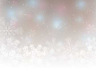 Abstract Christmas background with snowflakes 5