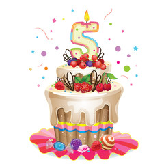 happy birthday cake 5