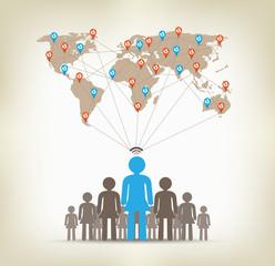 Team women global communication concept stock