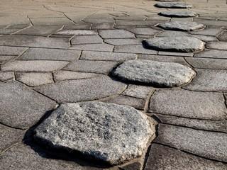 踏み石のある石畳