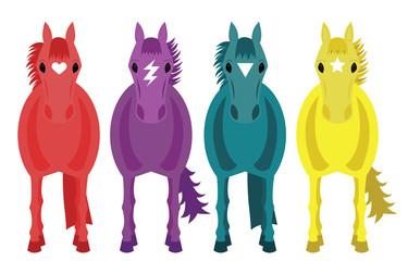 Four Fantasy Horses