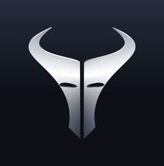 Black Metallic Icon : Cow