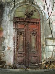 abandoned building door