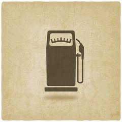 gasoline pump old background
