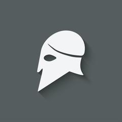 antique helmet symbol