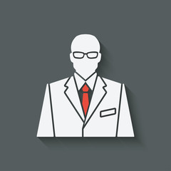 businessman in suit and red tie avatar