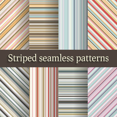 striped seamless patterns set in retro colors