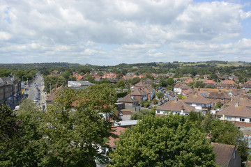 Broadwater from St Marys Tower. Sussex. England