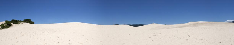 Joaquina dunes panoramic view, Florianopolis - Brazil