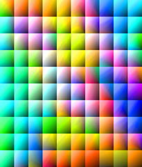 Cool rainbow colored background - squared pattern