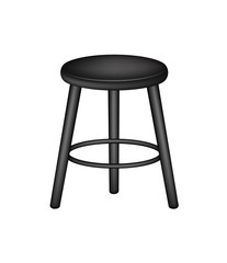 Retro stool in black design