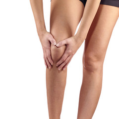 Pain in woman knee.