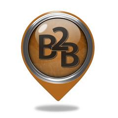 B2B pointer icon on white background