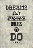 Grunge motivational poster