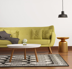 Contemporary elegant luxury lime buttoned sofa