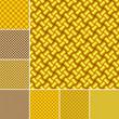 Set of golden pattern wallpapers