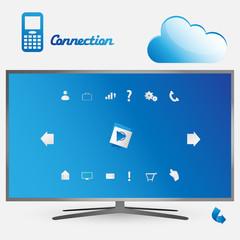Blue smart tv