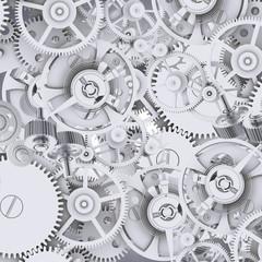 Texture of gears and cogwheels