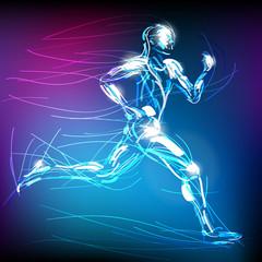 świetlisty biegacz wektor