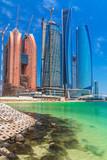 Fototapeta Scenery of Abu Dhabi, the capital of United Arab Emirates