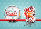 VectorVector Happy New Year 2015 red celebration background