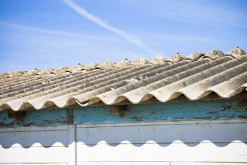 Dangerous asbestos roof - Medical studies have shown that the as