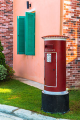 Traditional red mail-box