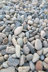 Sea gravel pebbles