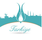 Fototapety türkiye tipografi