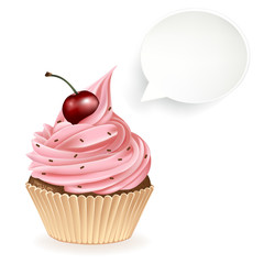 Speech Bubble Cupcake