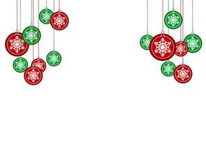 christmas balls snowflakes