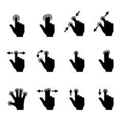 Gesture Icons Set for Mobile Touch Devices.
