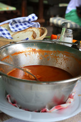 Meal time, Fish stew or chowder on the table