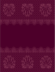 floral lacy border