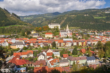 Stadtansicht Murau / Steiermark / Österreich