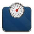 pesapersone blu in fondo bianco a 90 kg - 72367635