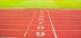 Fototapety lanes of running track