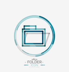 Folder logo, stamp. Accounting binder