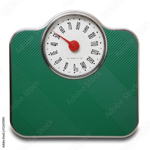 Leinwandbild Motiv pesapersone verde in dondo bianco a 50 kg.
