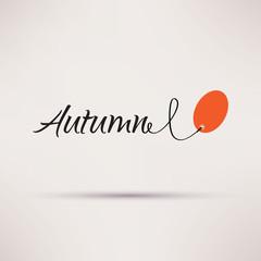 Icon of sale seasonal Autumn Isolated Vector illustration.