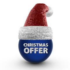 Christmas offer sphere icon on white background