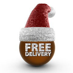 Free delivery sphere icon on white background
