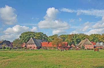 Typisches traditionelles niedersächsisches Dorf (Niedersachsen)