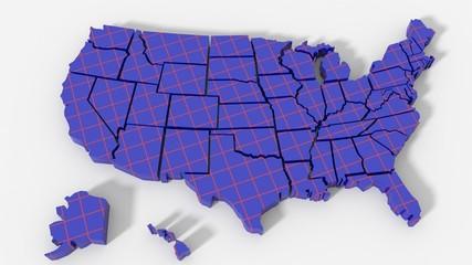 USA map texture piastrella