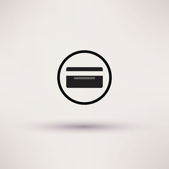 Bank credit card icon, vector illustration. Flat design style.