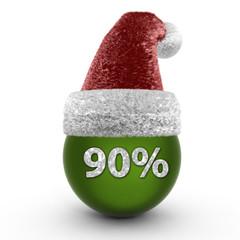 Ninety percent sphere icon on white background