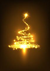 Weihnachtsbaum, abstrakt, glühend, funkelnd, Xmas, Tree, funken