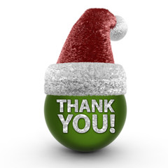Thank you sphere icon on white background
