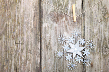 Snowflake on a rope