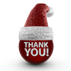 Thank you sphere icon on white background,